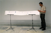 Installation score 'Growing Silence' Goethe-Institut Athens Greece 2011.